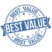 Best value stamp — Stock Vector