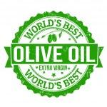Olive Oil stamp — Stock Vector #37130155