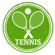 Tennis stamp — Stock Vector