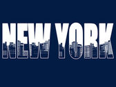Contour of the New York city — Stock Vector