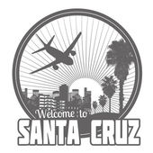 Welcome to Santa Cruz label or stamp — Stock Vector