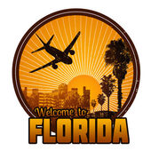 Welcome to Florida label or stamp — Stock Vector
