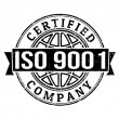 Stock Vector: ISO 9001 certified stamp