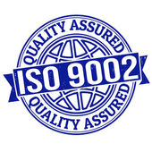 ISO 9002 quality assured stamp — Stock Vector