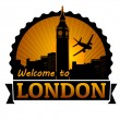 Welcome to London label or stamp — Stock Vector