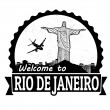Welcome to Rio de Janeiro label or stamp — Stock Vector