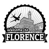 Welcome to Florence label or stamp — Stockvector