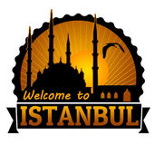 Welcome to Istanbul label or stamp — Stock Vector