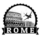 Welcome to Rome label or stamp — Stock Vector