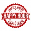 Stok Vektör: Happy hour stamp