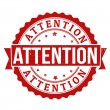 Attention stamp — Stock Vector #37296923
