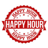 Happy hour stempel — Stockvector