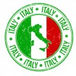 Italy stamp — Stock Vector #37404737