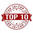 Stock Vector: Top 10 stamp