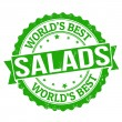 Salads stamp — Vector de stock #37549119