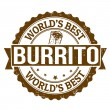 burrito stamp — Stock Vector #37549235