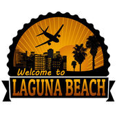 Laguna Beach travel label or stamp — Stock Vector