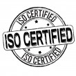 Stock Vector: Iso certified stamp