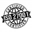 Stock Vector: ISO 27001 stamp