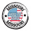 Missouri, Show Me State stamp — Stock Vector