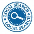 Stock Vector: Local search stamp