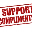 Stock Vector: I support compliments stamp
