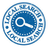 Local search stamp — Stock Vector