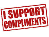 I support compliments stamp — Cтоковый вектор