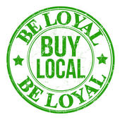 Be loyal buy local stamp — Stock Vector