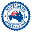 Australia day stamp — Stock Vector