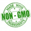Made with Non - GMO ingredients stamp — Stock Vector #37994013