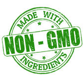 Made with Non - GMO ingredients stamp — Stock Vector