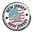 New Jersey, Garden State stamp — Stock Vector