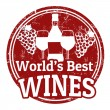 Stock Vector: World's best wines stamp