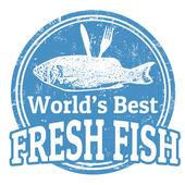 Timbro di pesce fresco — Vettoriale Stock