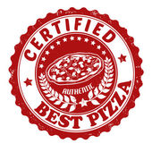 Best pizza stamp — Stock Vector
