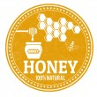 Stock Vector: Honey stamp