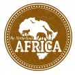 Africa stamp — Stock Vector #38120173