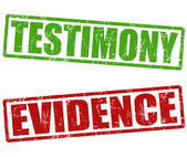Testimony and evidence stamps — Stock Vector