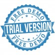Free trial stamp — Stock Vector