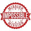 Stock Vector: Mission impossible stamp
