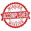 Mission accomplished stamp — Stock Vector