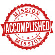 Mission accomplished stamp — Stock Vector #38281405