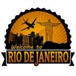 Rio de Janeiro travel label or stamp — Stock Vector #38281459