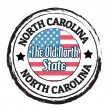 Stok Vektör: North Carolina, Old North State stamp