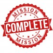 Mission complete stamp — Vector de stock