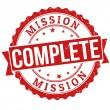 Полная печать миссии — Cтоковый вектор