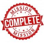 kompletny Stempel misji — Wektor stockowy