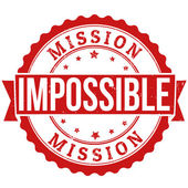Mission impossible stamp — Stock Vector