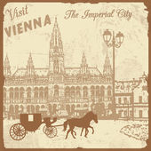 Visit Vienna the Imperial City poster — Stock Vector